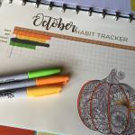 October habit tracker