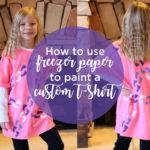 Using freezer paper to paint a custom t-shirt