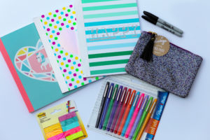 Back to school supply shopping for moms